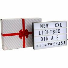 Lightbox LED Leuchtkasten Lichtbox XXL groß Dekolicht Schild Kino-Leuchte A3 SET
