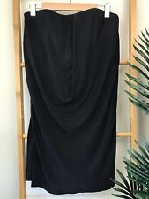 Rachel Gilbert Black Silk Strapless Top Size 3 L Draped Evening Special Occasion