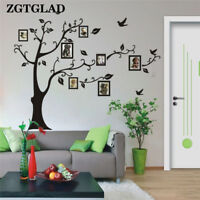 Large Family Tree Photo Frame Wall Decals Stickers Happy Memory Mural Decor