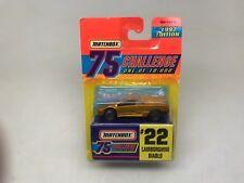 MATCHBOX-75 CHALLENGE #MB22-LAMBORGHINI DIABLO-1997--GOLD--MINT---LOOK-------