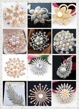 Fashion Brooch Rhinestone Crystal Diamante Wedding Broach Pin With Gift Bag UK