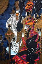Anne Fish 1922 PERSIAN KING on THRONE Iranian Servants Art Nouveau Deco Print