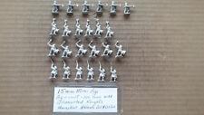 15mm Mini Figs  Agincourt 100 Years War Dismounted Knights Houndskull Helmets