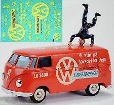 VW T1 Volkswagen E.Roed-Sörensen VW Dienst 1:87 Decal Abziehbild