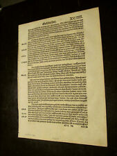 1526 Martin Luther-German N. Testament Leaf-From Acts 13 and 14-Sm Folio-Fine+
