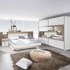 Schlafzimmer-Set Tarragona Bett Nakos Kleiderschrank weiß Eiche Sanremo hell 180
