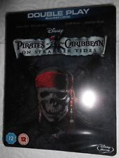 Pirates Of Caribbean On Stranger Tides STEELBBOK Exclusive Blu-ray UK NEW
