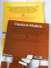 CLASSICS TO MODERNS VOLUMES 4 & 5- CLASSICAL SHEET MUSIC FOR PIANO