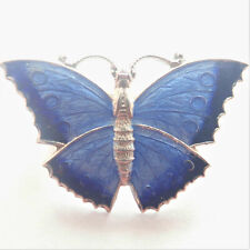 English Art Deco Silver Enamel Butterfly Brooch/Pin