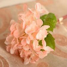 Artificial Hydrangea Silk Flowers Leaf Bouquet Wedding Bridal Party Home Decors