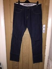 "One True Saxon Indigo Blue Straight Leg Jeans W34"" L34"" *C1+"