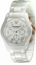 Emporio Armani AR1417 Ladies / Women's White  Chronograph Ceramica watch NEW WT