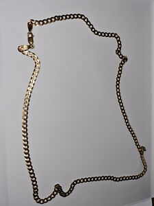 9ct Solid Gold Diamond Cut Curb Chain 18 inch 5.3 grams worn once