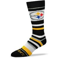 For Bare Feet Pittsburgh Steelers Youth & Women's Soft Stripe Crew-Length Socks