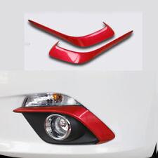 FOR Mazda Axela 3 2014-2016 2015 Bright red Front fog light eyebrow trim 2pcs