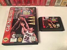 * NCAA Final Four Basketball Sega Genesis Vintage Video Game Cartridge & Box