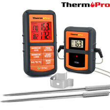 Dual 2 Probes Digital Wireless LCD Meat Cooking Kitchen Alarm Thermometer &Timer