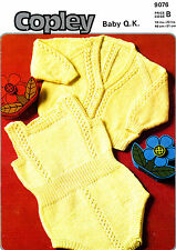 Baby Cardigan and Rompers knitting pattern in baby QK ( fine DK ) # 0048
