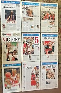 Collector's Chicago Tribune Chicago Bulls Championship Front Page Posters