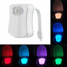 LED Sensor Motion Activated Bathroom Toilet Seat Bowl Battery Glow Night Light