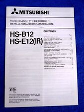 MITSUBISHI magnétoscope-HS-B12/HS-E12 (IR)...