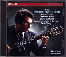 Pepe ROMERO Signiert RODRIGO Concierto Para una Fiesta Con de Malaga MARRINER CD