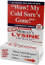 MORGANS LYSINE LIP BALM 4 GM Cold Sores