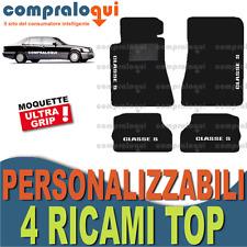 TAPPETINI AUTO su MISURA per MERCEDES BENZ CLASSE S (W140) + 4 RICAMI TOP