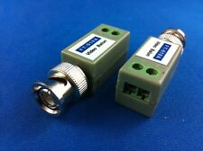 2 BNC Balun Video Coax UTP Transmission f cctv camera s