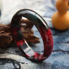 Certified 100% Red Fashion Retro Female Natural Jade Bangle Bracelet 58-64mm