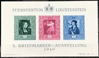 Liechtenstein #238 MNH S/S CV$110.00 UPU Post Horn Crown 75th Anniv