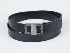 NIB. VERSACE COLLECTION Medusa Black Leather Belt Size 48 Cut To Size $295