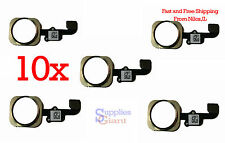 Touch ID Sensor Home Button Key Flex Cable for iPhone 6 & 6 Plus Gold Lot 10 HQ