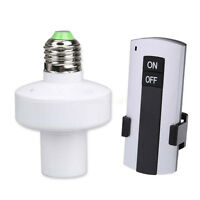 Wireless Remote 10M Control E27 Screw Light Bulb Holder Cap Socket Switch Lamp