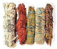SET of 5 Sage Smudge Stick SAMPLER Yerba Santa, Red, White, DRAGON & Cedar #2
