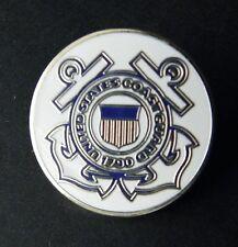 US COAST GUARD USCG ANCHORS USA ROUND LAPEL PIN BADGE 1 INCH