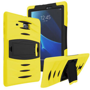Shockproof Heavy Duty Armor Case Cover For Galaxy Tab E Lite 7.0 T116 (Yellow)