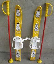 Babyski Lernski 70cm Kinderski für Kinder in Fabe Gelb Teddybär