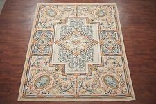 Fine 8X10 Aubusson Weave 260 KPSI Hand Knotted Wool Area Rug Carpet (8.3 x 10.4)