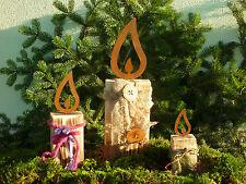Edelrost Flamme, Kerze, Weihnachten, Advent, Rost, Eisen, Metall, Gartendeko