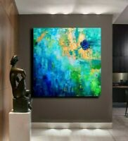 Modern paintings on canvas abstract original Acrylic Blue texture Landscape art