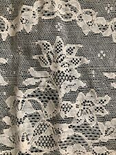 Vintage French VAL lace EMBROIDERED TULLE c1950