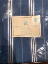 "Pottery Barn Kids Classic Stripe Panel 63"" Curtain/ Drape Window Treatment Blue"