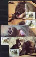 S3686) Cameroon 1988 MNH Wwf, Mandrill 4v Maxicards