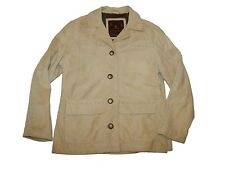Women The Territory Ahead Tan Suede Leather Jacket Size S