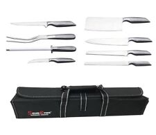 Set 8 coltelli da cucina in acciaio coltello taglia pane carne affilacoltelli