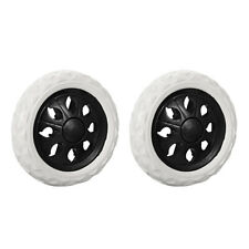 Shopping Cart Wheels Trolley Caster Replacement 65 Inch Dia Black 2pcs