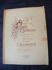 Partition Douce confidence Dolmetsch Music Sheet Grand Format