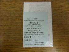 More details for 01/02/1972 ticket: sunderland v portsmouth  (light fold). condition: if no previ