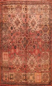 Antique Vegetable Dye Handmade Authentic Moroccan Berber Oriental Area Rug 7'x9'